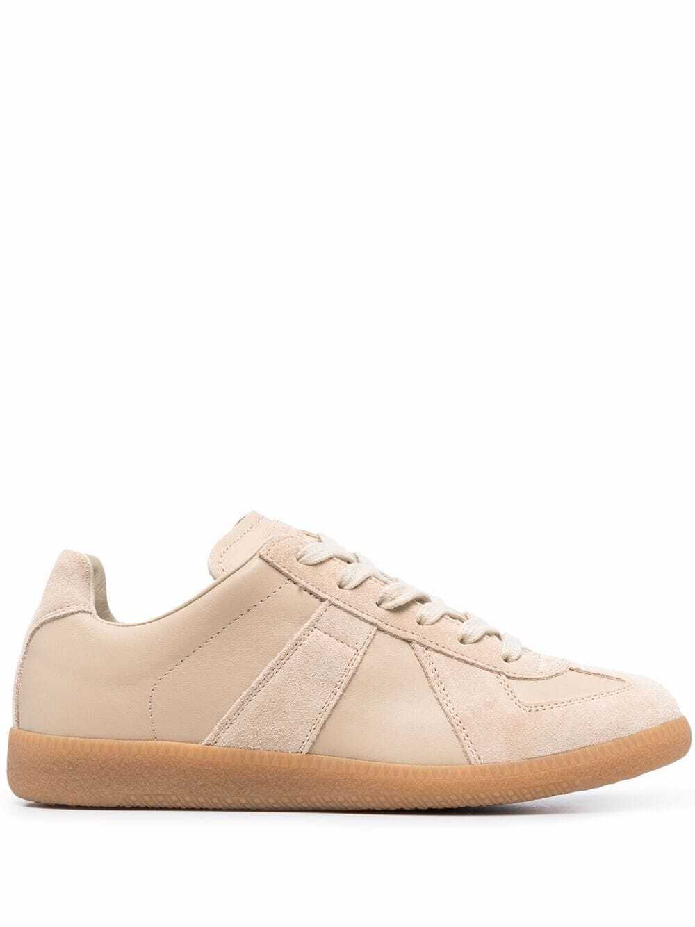 Replica-Sneaker aus Wildleder in Beige