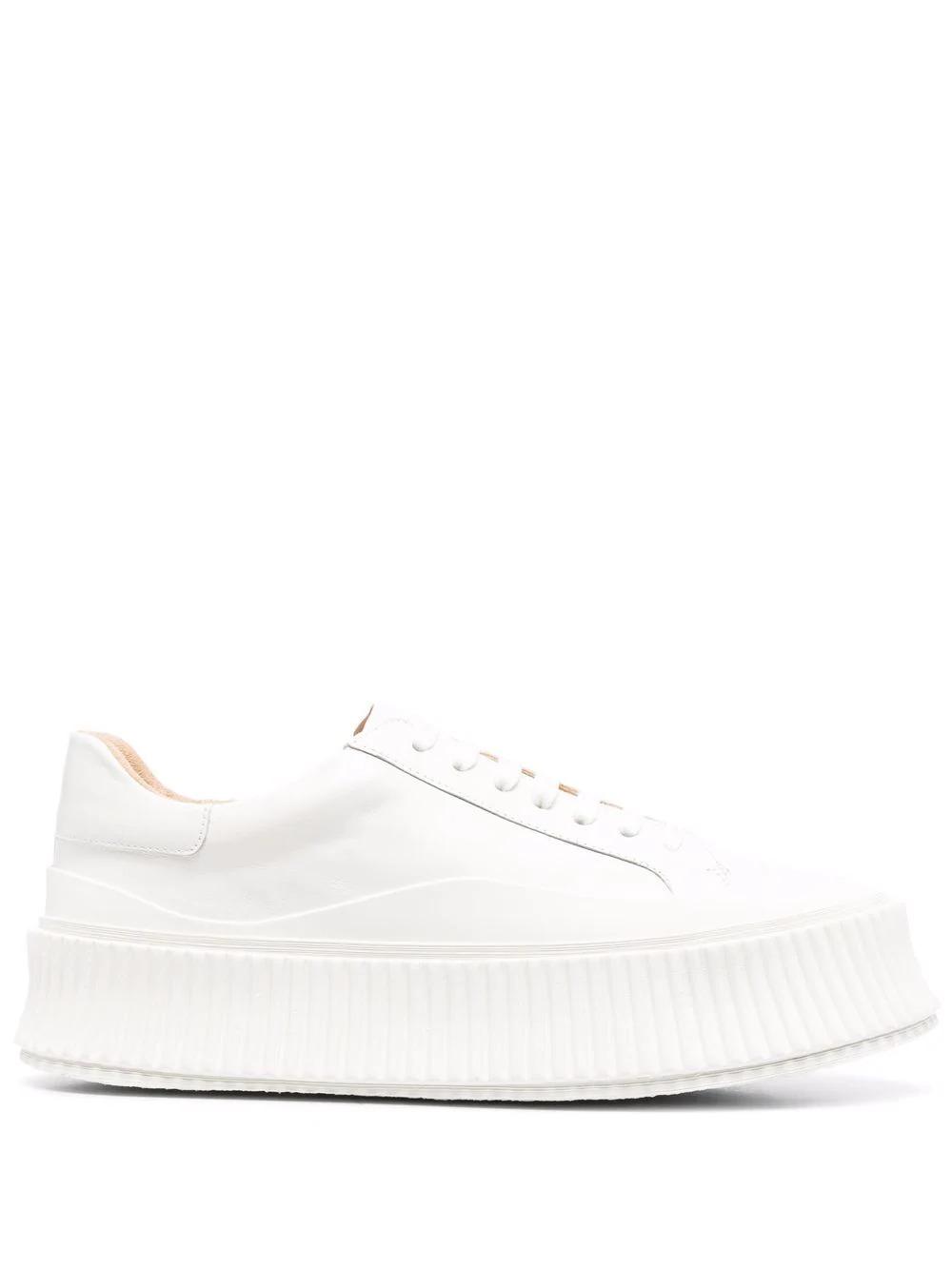 Chunky Low-Top-Sneaker in Weiß
