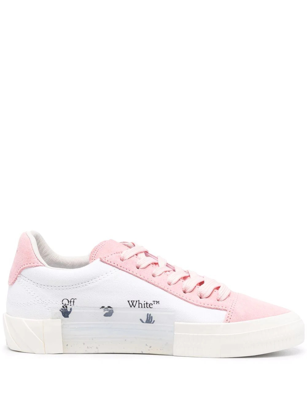 Low-Top Vulcanized Sneakers in Rosa