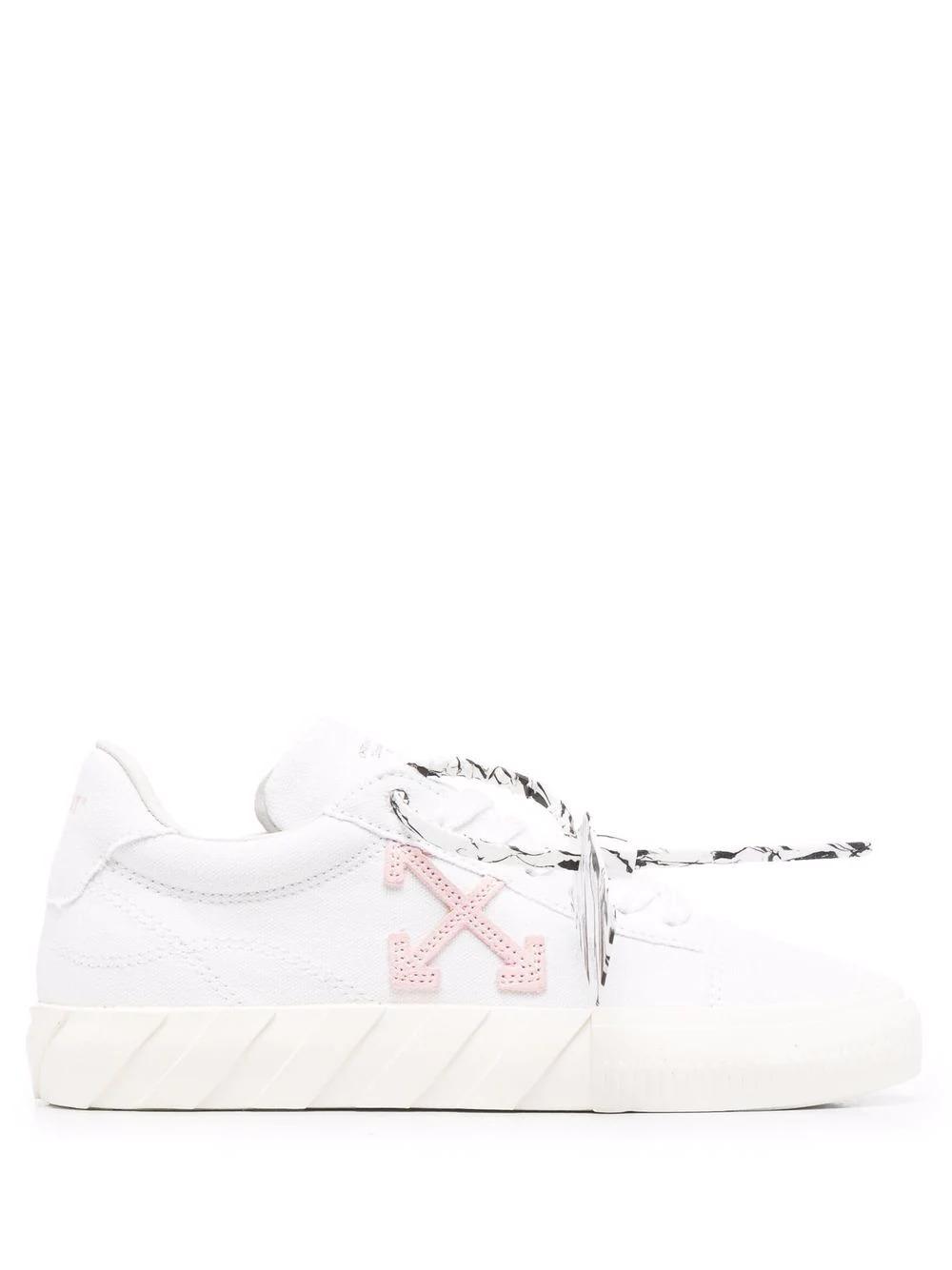 Low-Top Vulcanized Sneakers in Weiß